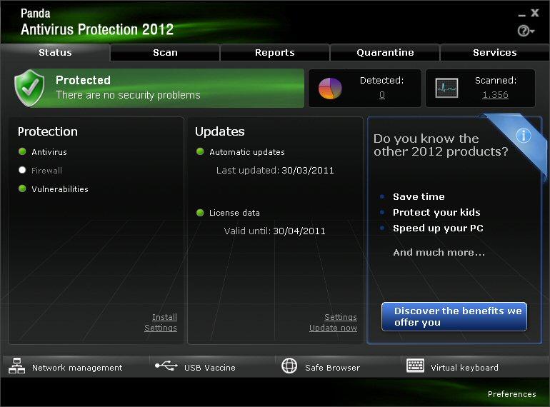 baixar Panda Antivirus Pro 2012