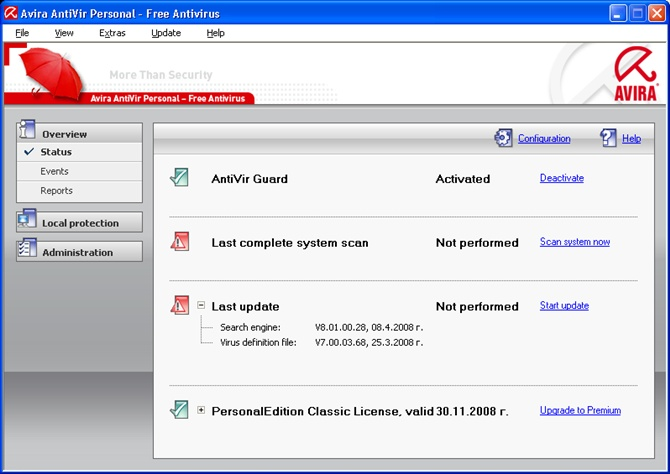 download Avira AntiVir Personal Edition  13.0.0.419