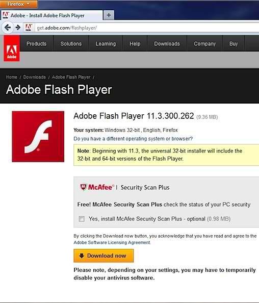 Adobe flash player for internet explorer 11